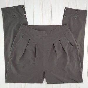Athleta | Gray Easy Peazy Ankle Snap Pant